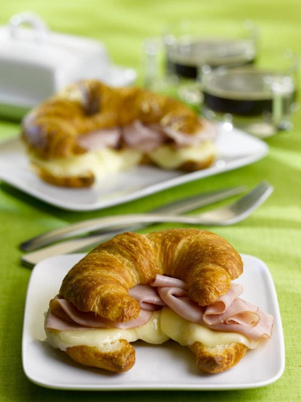 Croissant Ham and Cheese Sandwich