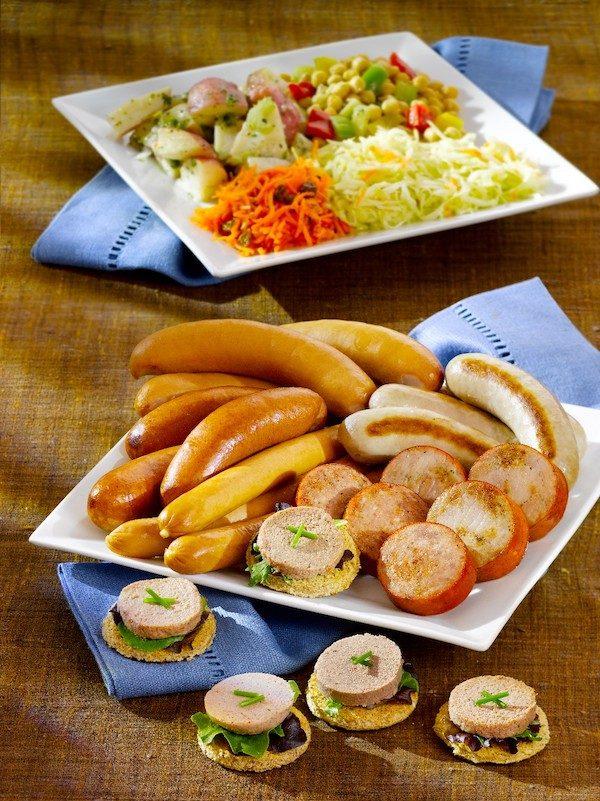Turkey Bratwurst Plated