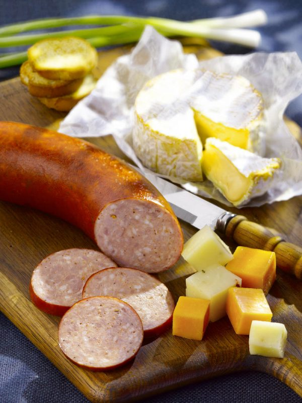 Polish Sausage ring with cheese